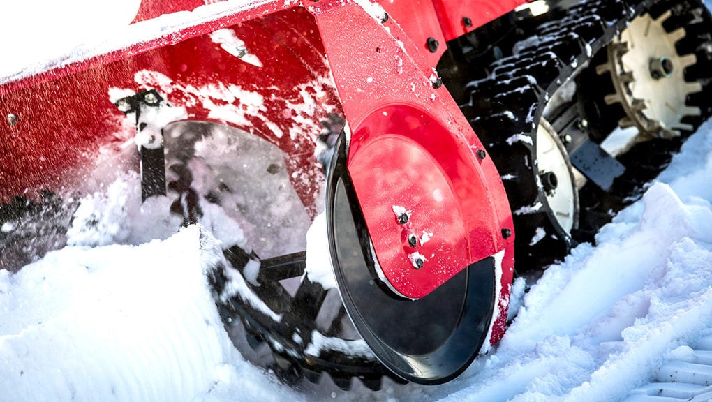 Image of close up of power equipment in snow